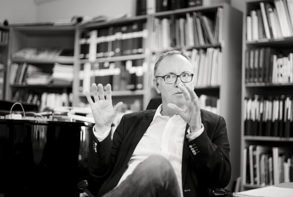 Erik Westberg. dirigent och körledare vd musikhögskolan i Piteå.